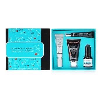 25 Years Of Dr. Brandt Kit: Microdermabrasion 60g+ Wrinkle Smoothing Cream 15g+ Pore Refiner Primer 30ml+ No More Baggage 15g (4pcs)