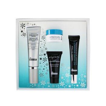 Festive & Flawless Kit: Pore Refiner Primer 30ml+ No More Baggage 15g+ Microdermabrasion 15g+ Hyaluronic Facial Cream 10g (4pcs)
