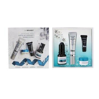 Skincare Wishlist Kit: Pore Refiner Primer 30ml+ Wrinkle Smoothing Cream 15g+ Microdermabrasion 7.5g+ Hyaluronic Cream 10g (4pcs)