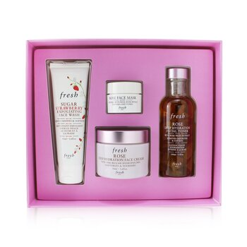 Rose Deep Hydration Skincare Set (4pcs)