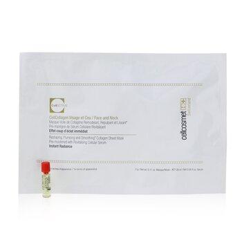 Cellcosmet CellEctive CellCollagen Face & Neck: 1x Mask (Serum 28ml/0.95oz) + 1x Ampoule 1ml/0.03oz (5x2patchs)