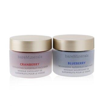 Superfruit Mask Duo (Limited Edition): Cranberry Exfoliating Face Mask 30g+ Blueberry Nourishing Face Mask 30g (2pcs)