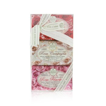 Rosa Soap Set (Le Rose Collection) #Rosa Sensuale, #Rosa Champagna, #Rosa Principessa (3x 150g/5.3oz)