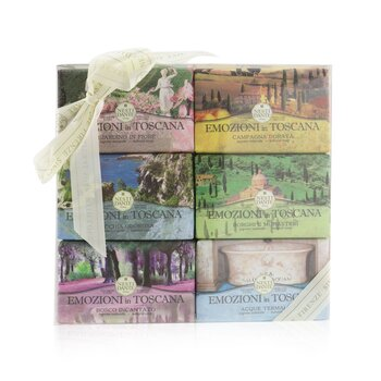 Emozioni In Toscana The Collection Gift Set (#Gardino In Flore, #Campagna Dorata, #Macchia Odorosa, #Borghi E Monasteri, #Bosco Incantato, #Thermal Water) (6x 150g/5.3oz)