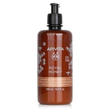 Royal Honey Creamy Shower Gel With Essential Oils - Ecopack (500ml/16.9oz)