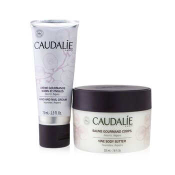 Cocooning Body Care Set: Vine Body Butter 225ml/7.6oz + Hand and Nail Cream 75ml/2.5oz (2pcs)