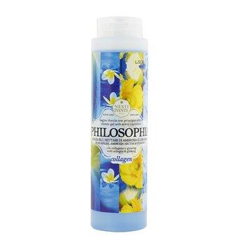 Philosophia Shower Gel - Collagen - Blue Azalea, Ambrosia Nectar & Starfruit With Vegetal Collagen & Ginseng (300ml/10.2oz)