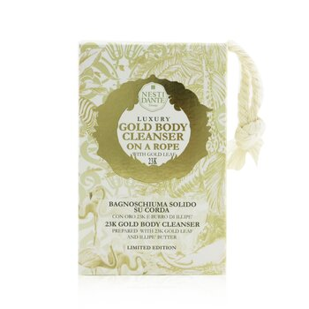 Luxury Body Cleanser On A Rope - 23K Gold Body Cleanser With Gold Leaf (Limited Edition) (150g/5.3oz)