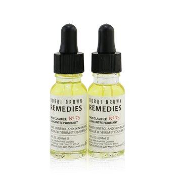 Bobbi Brown Remedies Skin Clarifier No 75 Duo Set (2x14ml/0.47oz)