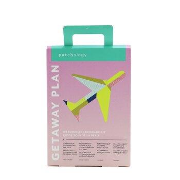 Getaway Plan Weekend(ER) Skincare Kit: Illuminating Eye Gels + Aromatherapy Eye Gels + Hydrate Sheet Mask + lluminate Sheet Mask (4pcs)