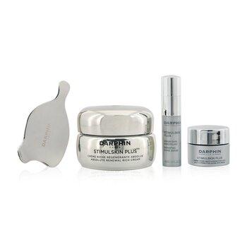 Stimulskin Plus Meraviglie Botaniche Set: Renewal Rich Cream 50ml+ Reshaping Divine Serum 4ml+ Eye Cream 5ml+ Massage Applicator (4pcs)