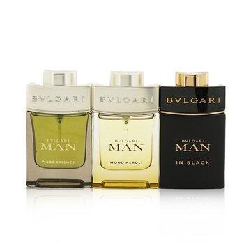 Man Coffret: In Black Eau De Parfum Spray + Wood Neroli Eau De Parfum Spray + Wood Essence Eau De Parfum Spray (3x15ml/0.5oz)