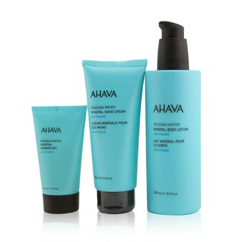 Sea-Kissed Mineral Delights Set: Mineral Body Lotion 250ml+ Mineral Hand Cream 100ml+ Mineral Shower Gel 40ml (3pcs)