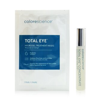 Total Eye Concentrate Kit: Concentrate 8ml + Hydrogel Treatment Masks 12pairs (13pcs)