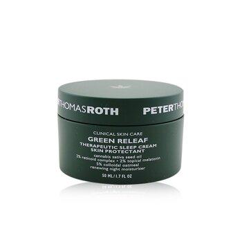 Green Releaf Therapeutic Sleep Cream Skin Protectant - Renewing Night Moisturizer (Exp. Date: 07/2021) (50ml/1.7oz)