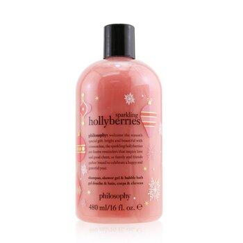 Sparkling Hollyberries Shampoo, Shower Gel & Bubble Bath (480ml/16oz)