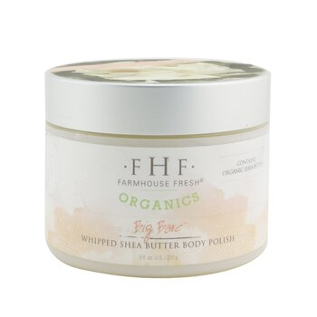 Organic Whipped Shea Butter Body Polish - Big Bare (237g/8oz)