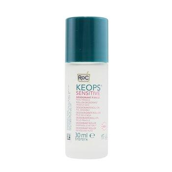 KEOPS Sensitive Roll-On Deodorant 48H - Alcohol Free & Not Perfumed (Fragile Skin) (30ml/1oz)
