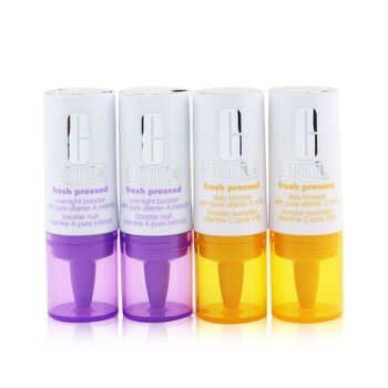 Fresh Pressed Clinical Daily+Overnight Boosters (2x Daily Booster 8.5ml/0.29oz+ 2x Overight Booster 6ml/0.2oz) (4pcs)