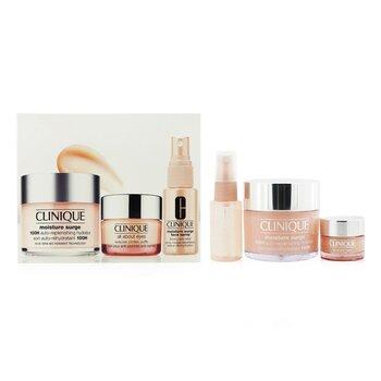 Moisture Surge Set: Moisture Surge 100H 125ml+ All About Eyes 15ml+ Moisture Surge Face Spray Thirsty Skin Relief 30ml (3pcs)
