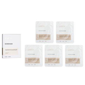 Skinovage [Age Preventing] Balancing Bio-Cellulose Mask - For Combination Skin (5pcs)