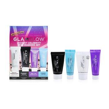 Instant Celebrity Skin Masking Set: 1x Supermud Clearing Treatment - 15g/0.5oz + 1x Youthmud Glow Stimulating Treatment - 15g/0.5oz + 1x Thristymud Hydrating Treatment - 10g/0.35 + 1x Gravitymud Firming Treatment- 10g/0.35 (4pcs)