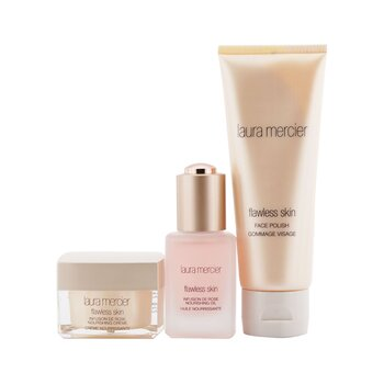 Infusion De Rose Nourishing Collection: 1x Flawless Skin Infusion De Rose Nourishing Oil - 30ml/1oz + 1x Flawless Skin Infusion De Rose Nourishing Cream - 30g/1oz + 1x Flawless Skin Face Polish - 100g/3.4oz (3pcs)
