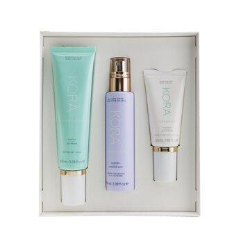 3 Step System - Sensitive Skin: Gentle Cleanser 100ml + Calming Lavender Mist 100ml + Soothing Moisturizer 50ml (3pcs)