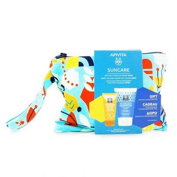 Suncare Gift Set: Anti-Spot Face Cream SPF50 50ml + After Sun Cooling Cream-Gel 100ml (Exp. Date: 10/2021) (2pcs+1pouch)
