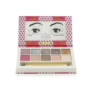 Cafe Bonheur La Palette (10x Eye Shadow) (Limited Edition) - #01 L'Addition S'il Vous Plait (5g/0.17oz)