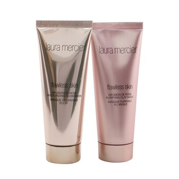 Infusion De Rose Mask Duo Set: Flawless skin moisturizing glow mask 75g/2.5oz + Flawless skin ...(Box Slightly Damaged) (2pcs)