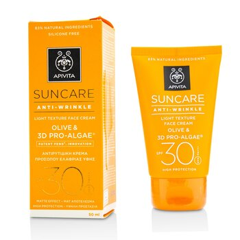 Suncare Anti-Wrinkle Light Texture Face Cream SPF 30 (Exp. Date: 11/2021) (50ml/1.7oz)