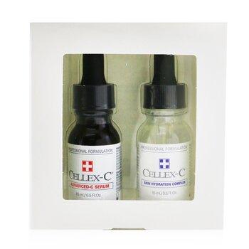 Advanced-C Serum 2 Step Starter Kit: Advanced-C Serum + Skin Hydration Complex (Exp. Date: 12/2021) (2x15ml/0.5oz)