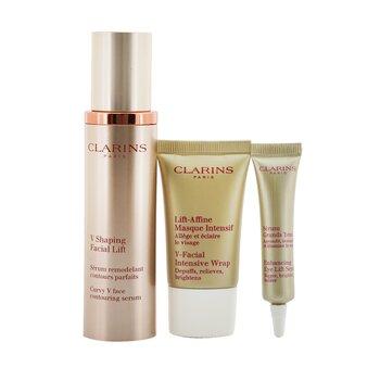 V Shaping Facial Lift Collection: V Shaping Facial Lift 50ml+ Eye Lift Serum 7ml+ V-Facial Intensive Wrap 15ml+ Pouch (3pcs+1pouch)