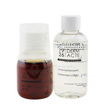 Uni-Peel 60% Kit : 1x Uni-Peel 60% 50ml/1.7oz, 1x Neutralizing Lotion 75ml/2.5oz, 1x Measuring Cup (Salon Product) (3pcs)