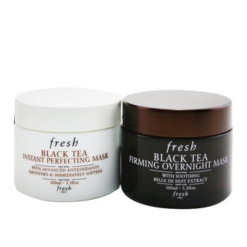 Black Tea Age-Delay For Night & Day Set: Black Tea Instant Perfecting Mask 100ml + Black Tea Firming Overnight Mask 100ml (2x100ml/3.3oz)