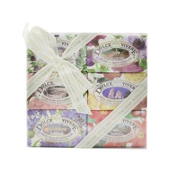 Dolce Vivere The Collection Soap Set: Sardegna + Portofino + Roma + Capri + Firenze + Venezia (6x 150g/5.3oz)