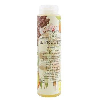 IL Frutteto Bath & Shower Natural Liquid Soap With Red Grape Leaves & Lemon Extract (300ml/10.2oz)