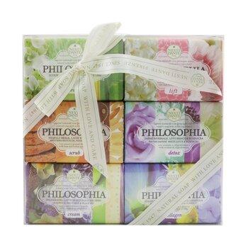 Philosophia The Collection Soap Set: (Lift + Breeze + Detox + Scrub + Collagen + Cream) (6x 150g/5.3oz)