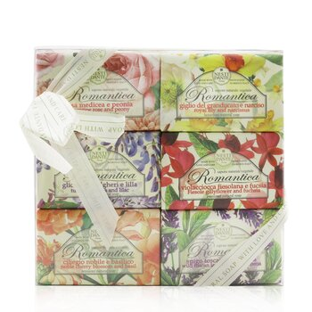 Romantica The Collection Soap Set: (Florentine Rose & Peony + Royal Lily & Narcissus + Tuscan Wisteria & Lilac + Fiesole Gillyflower & Fuchsia + Noble Cherry Blossom & Basil + Wild Tuscan Lavender & Verbena) (6x 150g/5.3oz)