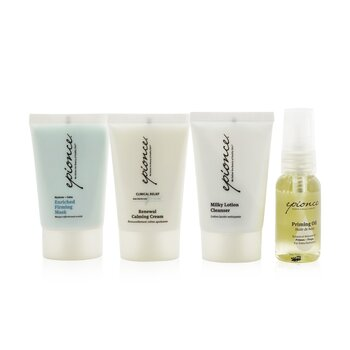 Essential Recovery Kit: Milky Lotion Cleanser+ Priming Oil+ Enriched Firming Mask+ Renewal Calming Cream (Exp. Date: 03/2022) (4pcs)