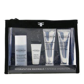 Intense Hydration Set: Micellar Solution 50ml+Hydra-Hyal 7ml+Hydra-Filler 30ml+Meso Mask 30ml+Bag (4pcs+1bag)