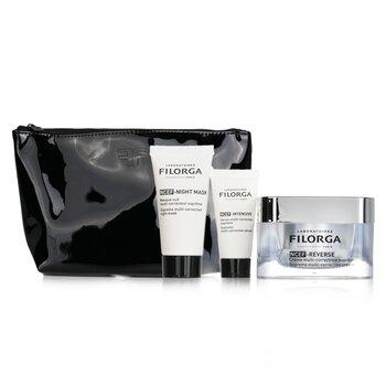 Anti-Ageing Revolution Gift Set  (Limited Edition): 1x NCEF-Reverse Cream 50ml + 1x NCEF-Night Mask 15ml + 1x NCEF-Intensive Serum 7ml +1bag (3pcs+1bag)