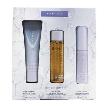 FENTY SKIN Start'R Set: Total Cleans'R 45ml + Fat Water 50ml + Hydra Vizor 30ml (3pcs)