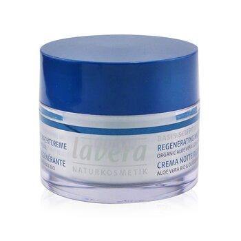 Basis Sensitiv Regenerating Night Cream - Organic Aloe Vera & Organic Almond Oil (For All Skin Types) (Exp. Date: 01/2022) (50ml/1.6oz)