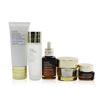 Your Nightly Skincare Experts: ANR 50ml+ Revitalizing Supreme+ Soft Cream 50ml+ Eye Supercharged 15ml+ Micro Cleans... (5pcs)