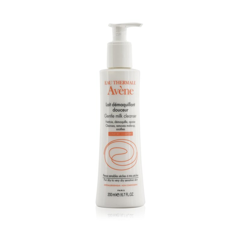 Avene 雅漾  柔润洁面乳 无泡温和洗面奶 敏感肌适用 200ml 温和清洁 卸除彩妆