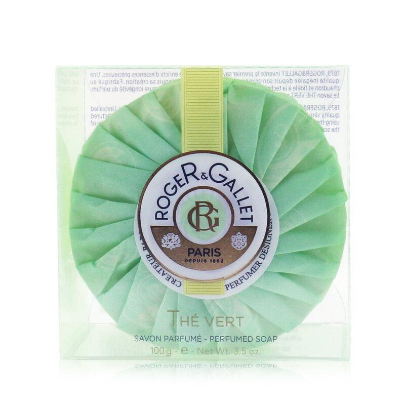 Roger & Gallet 香邂格蕾  绿茶香薰皂 肌肤补水 洁净舒适  100g