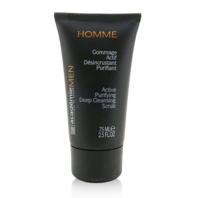 Academie 爱琪美 男士活力净透深层清洁磨砂膏 75ml 深层清洁 去角质及舒缓皮肤功效
