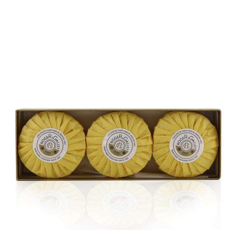 Roger & Gallet 香邂格蕾  橙香木香薰皂套装 舒适泡沫 轻柔洁净 清爽香气 顺滑舒适 3x100g